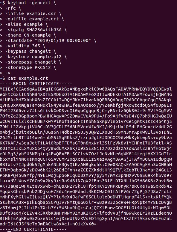 create ssl certificate keytool