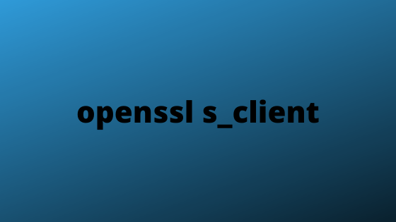 openssl s_client
