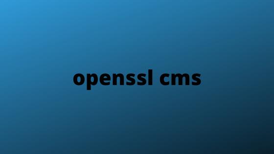 openssl cms