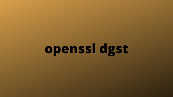 openssl dgst