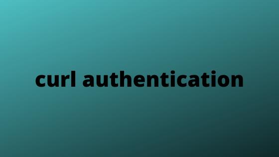 curl authentication