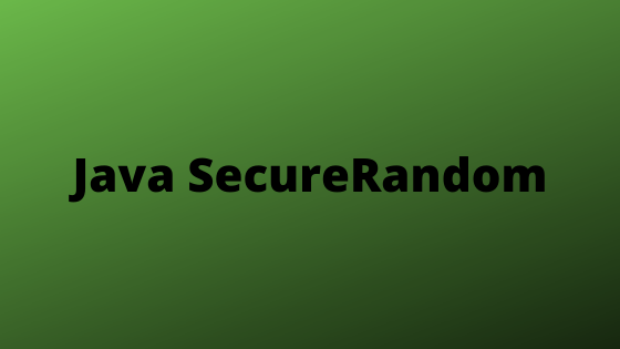 Java SecureRandom