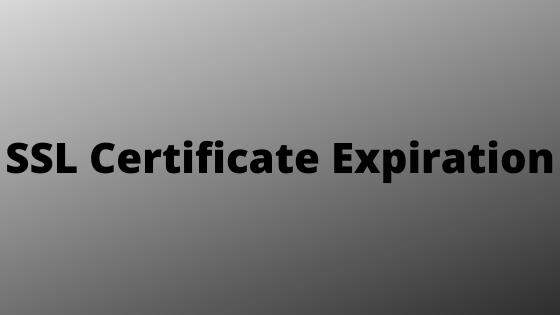 SSL Certificate Expiration