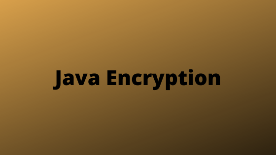 encryption with java
