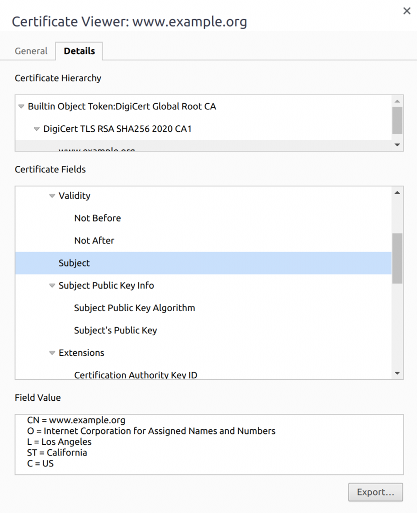 OV by certificate policy