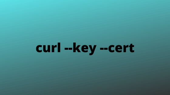 curl authentication with --key