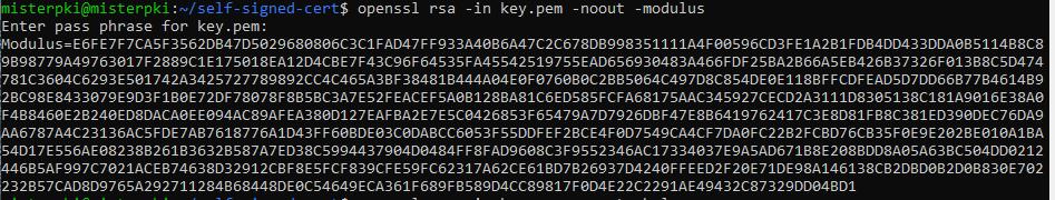 openssl rsa modulus