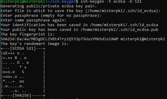 generate ecdsa ssh key